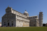 Duomo (Cathedral) with Leaning Tower Behind  Pisa  Tuscany  Italy  Europe