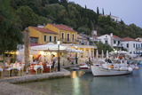 Typical Waterfront Taverna Illuminated at Dusk  Kioni  Ithaca (Ithaki)