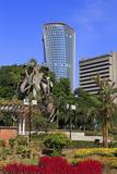 Fountain Sculpture and Jkr Tower  Kuala Lumpur  Malaysia  Southeast Asia  Asia
