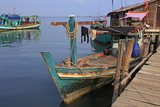Fishing Village in Sihanoukville Port  Sihanouk Province  Cambodia  Indochina  Southeast Asia  Asia