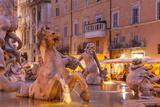 Piazza Navona in Rome  Lazio  Italy  Europe