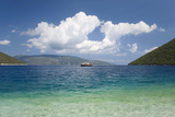 View across Antisamos Bay  Sami  Kefalonia (Kefallonia