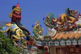 Statue in Hainan Temple  Nathon City  Koh Samui Island  Thailand  Southeast Asia  Asia