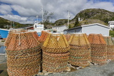Lobster Traps Near Fishing Boat Outside St John'S  Newfoundland  Canada  North America