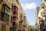 Maltese Balconies in the Old Town  Valletta  Malta  Europe