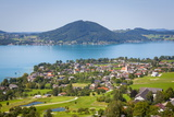 Elevated View over Picturesque Weyregg Am Attersee  Attersee  Salzkammergut  Austria  Europe