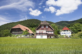 Black Forest Houses  Gutachtal Valley  Black Forest  Baden Wurttemberg  Germany  Europe