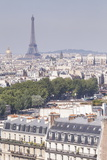 The Eiffel Tower over the Rooftops of Paris  France  Europe
