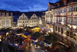 Christmas Fair  Market Place  Schwaebisch Hall  Hohenlohe  Baden Wurttemberg  Germany  Europe