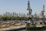 Main Docks with the High-Rises of the City Centre Beyond  Mumbai  India  Asia