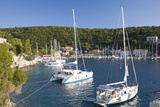 Yachts at Anchor in the Pretty Harbour  Kioni  Ithaca (Ithaki)