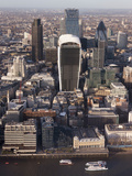 Aerial London Cityscape Dominated by Walkie Talkie Tower  London  England  United Kingdom  Europe