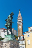 Church of St George and Giuseppe Tartini Statue  Tartinijev Trg (Tartini Square)  Old Town