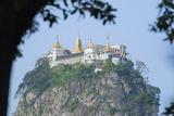 Buddhist Temple on Popa Taung Kalat  Mount Popa  Myanmar (Burma)  Asia
