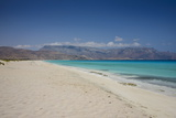 Turquoise Water at the Beach in Shuab Bay on the West Coast of the Island of Socotra