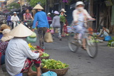 Women Vendors Selling Vegetables at Market  Hoi An  Quang Nam  Vietnam  Indochina