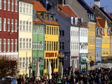 Nyhavn (New Harbour)  Busy Restaurant and Bar Area  Copenhagen  Denmark  Scandinavia  Europe