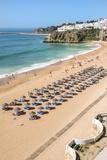 Fisherman Beach  Umbrellas and Beach Chairs  Albufeira  Algarve  Portugal  Europe