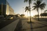 Copacabana Beach at Dawn  Rio De Janeiro  Brazil  South America