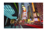 Times Square  Evening - New York City Landmark Midtown Manhattan at Night