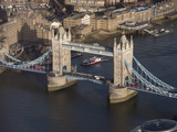 Aerial of Tower Bridge  London  England  United Kingdom  Europe