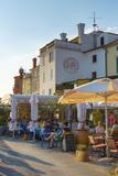 Cafe  Presernovo Nabrezje  Old Town  Piran  Primorska  Slovenian Istria  Slovenia  Europe