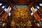 Guanyin Buddha with Many Smaller Buddhas at Yong Fu Temple  Hangzhou  Zhejiang  China  Asia