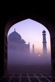 Taj Mahal at Sunrise  UNESCO World Heritage Site  Agra  Uttar Pradesh  India  Asia