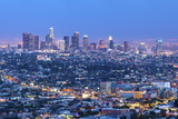 Cityscape of the Los Angeles Skyline at Dusk  Los Angeles  California  Usa