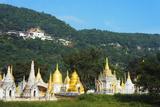 Nget Pyaw Taw Pagoda Below Entrance to Shwe Oo Min Natural Cave Pagoda  Pindaya  Myanmar (Burma)