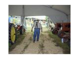 North Carolina State Fair Tractor Exhibit - Rural Farmer in Overalls