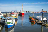Fishing Boats in the Harbour of Cuxhaven  Lower Saxony  Germany  Europe
