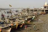 The Fishing Harbour on the Daman Ganga River  Daman  Gujarat  India  Asia