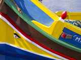 Detail of a Fishing Boat  St Paul's Bay  Malta  Mediterranean  Europe