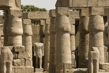 Great Court of Ramses Ii  Luxor Temple  Luxor  Thebes  Egypt  North Africa  Africa
