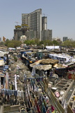 Dhobi Ghat  the Main City Laundries at Mahalaxmi  Mumbai  India  Asia
