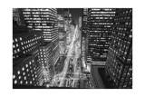 Park Avenue at Night - Aerial View Of Midtown Manhattan Iconic Nyc