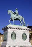 Statue of King Frederick V in Amalienborg Palace Courtyard in Copenhagen  Denmark  Scandinavia