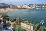 Cascais Pier and Beach  Cascais  Lisbon Coast  Portugal  Europe