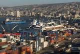 View of City and Ports from Paseo 21 De Mayo  Cerro Playa Ancha  Valparaiso