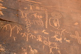 Native American Petroglyphs  Valley of Fire State Park  Nevada  Usa