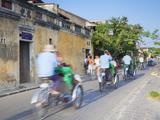 Cyclos Passing Along Street  Hoi An  Quang Nam  Vietnam  Indochina  Southeast Asia  Asia