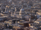 St Paul's Cathedral from Above  London  England  United Kingdom  Europe