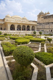 Gardens and Hall of Mirrors  Amber Fort Palace  Jaipur  Rajasthan  India  Asia