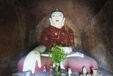 Buddha Statue in Temple  Bagan (Pagan)  Myanmar (Burma)  Asia
