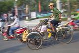 Man Riding Cyclo  Hue  Thua Thien-Hue  Vietnam  Indochina  Southeast Asia  Asia