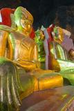 Buddha Statues in Entrance to Shwe Oo Min Natural Cave Pagoda  Pindaya  Myanmar (Burma)  Asia