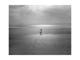 St Augustine  Florida - Child On The Beach Atlantic Ocean