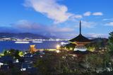 Pagoda at Itsukushima Jinja Shinto Shrine  Miyajima Island  Hiroshima Prefecture