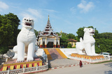 Chinthe Lion Guardians  Mandalay Hill  Myanmar (Burma)  Asia